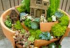Миниатюрна градинка с къщичка