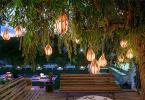 Градинско осветление с фенери