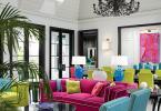 Интериор с контрастни, ярки цветове