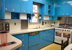 Малка кухня в светло синьо