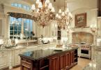 Огромни масивни полилеи за кухня