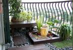 Майсторски аранжирана зелена декорация на тераса