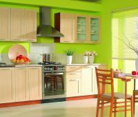свежо зелена кухня
