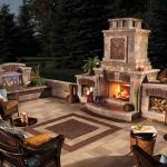 Луксозни външни камини и огнища