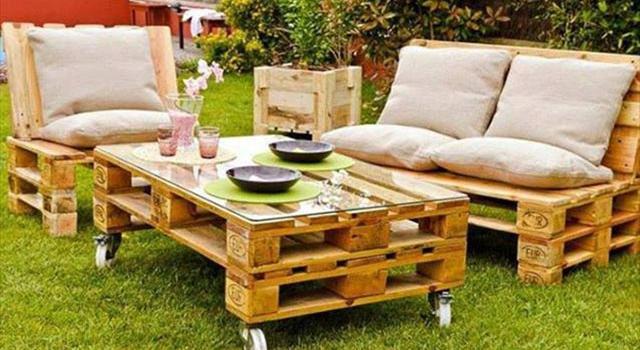 Палетни мебели за градина